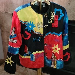 Drapers and Damon's multicolored shirt size large